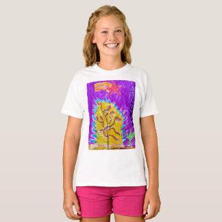 """Le T-shirt de filles """"d'arbre de feu"""" !"""