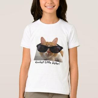 Le T-shirt de filles de chat de cool le plus frais