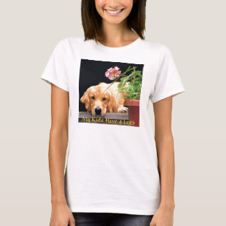 Le T-shirt de golden retriever mes enfants ont 4