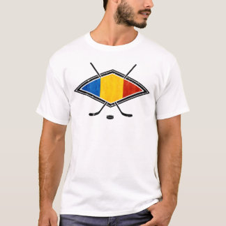 Le T-shirt de hockey sur glace des hommes roumains