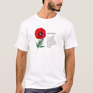 Le T-shirt de jour de souvenir de pavot