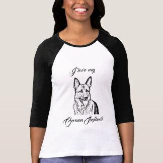 Le T-shirt de la femme - amour d'I mon berger