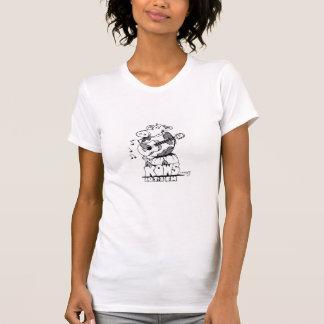 Le T-shirt de la femme avec le logo de souris de