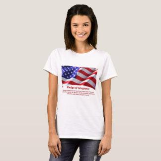Le T-shirt de la femme de serment de fidélité des