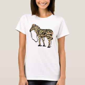 Le T-shirt de la femme de zèbre d'espoir d'EDS