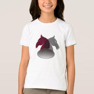 Le T-shirt de la fille de chevaliers