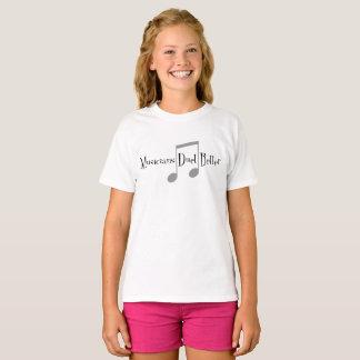 Le T-shirt de la fille de duo (notes)