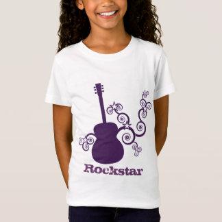 Le T-shirt de la fille de guitare de Rockstar,
