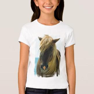 Le T-shirt de la fille de mustang