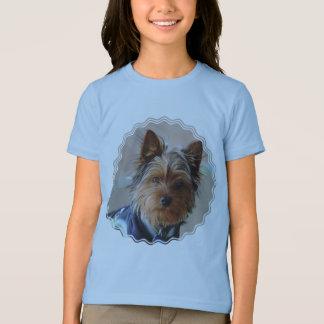 Le T-shirt de la fille de Yorkie Terrier