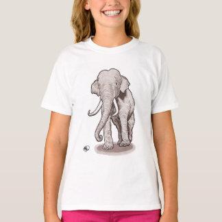 """Le T-shirt de la fille d'éléphant de """"liberté"""""""