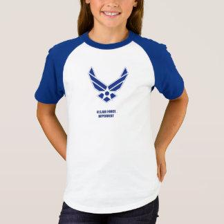 Le T-shirt de la fille dépendante de l'U.S. Air