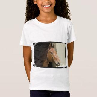 Le T-shirt de la fille quarte américaine de cheval