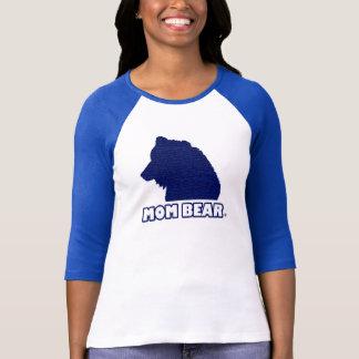 Le T-shirt de la mère Bleu-Modelée par ours de