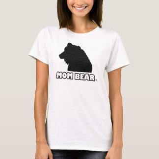 Le T-shirt de la mère Noir-Modelée par ours de