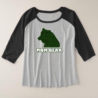 Le T-shirt de la mère Vert-Modelée par ours de