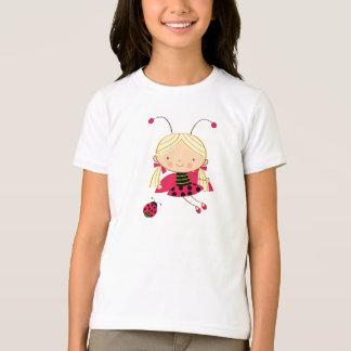 Le T-shirt de la petite de coccinelle fille