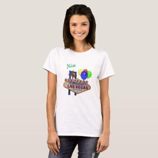 Le T-shirt de Las Vegas des femmes personnalisées