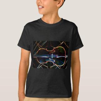 Le T-shirt de l'enfant au néon de violoncelle