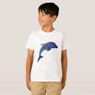 Le T-shirt de l'enfant celtique de dauphin
