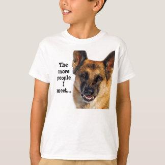 Le T-shirt de l'enfant de berger allemand