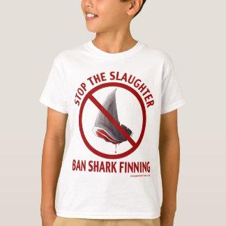 Le T-shirt de l'enfant de Finning de requin