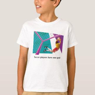 Le T-shirt de l'enfant de gardien de but du