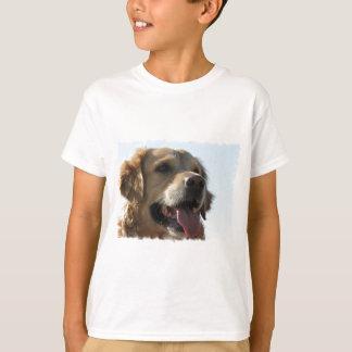 Le T-shirt de l'enfant de golden retriever