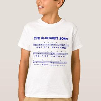 Le T-shirt de l'enfant de la chanson d'alphabet