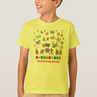 Le T-shirt de l'enfant de Letterland   polychrome