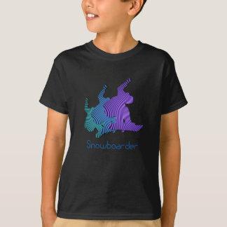 Le T-shirt de l'enfant de logo de surfeur