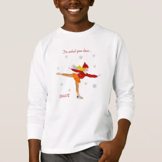Le T-shirt de l'enfant de patinage de fille