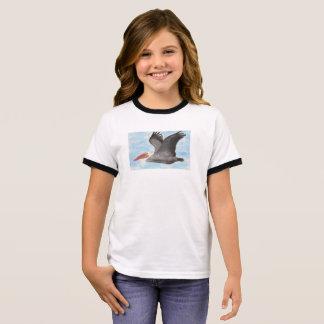 Le T-shirt de l'enfant de pélican de Brown