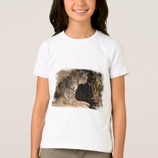 Le T-shirt de l'enfant de photos de chat sauvage