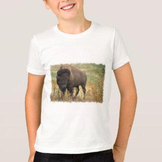 Le T-shirt de l'enfant en bois de bison