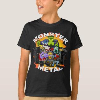 Le T-shirt de l'enfant en métal de monstre