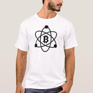 """Le T-shirt de l'homme de """"atome"""" de Bitcoin (btc)"""