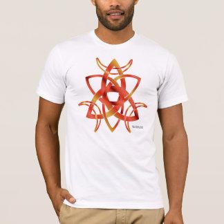 Le T-shirt de lune des hommes triples de noeud
