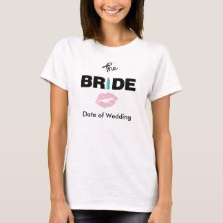 Le T-shirt de mariage de jeune mariée