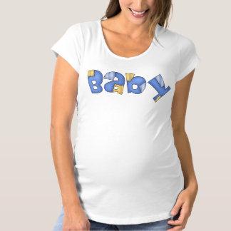 Le T-shirt de maternité des femmes bleues de bébé