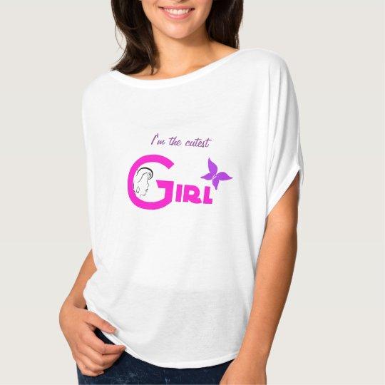 Le T-shirt de monogramme de coeur de sucrerie de