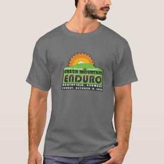 Le T-shirt de montagne des hommes verts d'Enduro