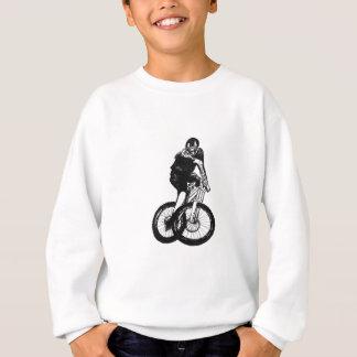 Le T-shirt de vélo de montagne de garçons présente