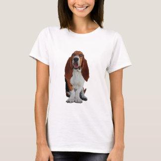 Le T-shirt des belles femmes de photo de Basset