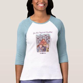 Le T-shirt des dames - pas traînant d'écureuil (sé