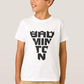 Le T-shirt des enfants de badminton