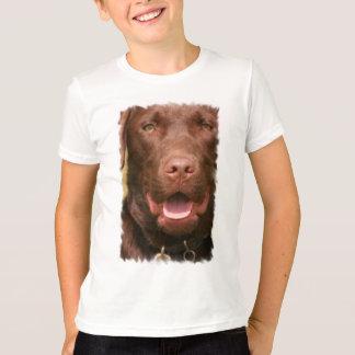 Le T-shirt des enfants de laboratoire de chocolat
