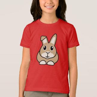 Le T-shirt des enfants de lapin de bande dessinée