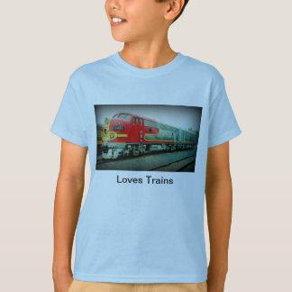 Le T-shirt des enfants de trains d'amours