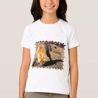 Le T-shirt des enfants d'habitat de Fox rouge